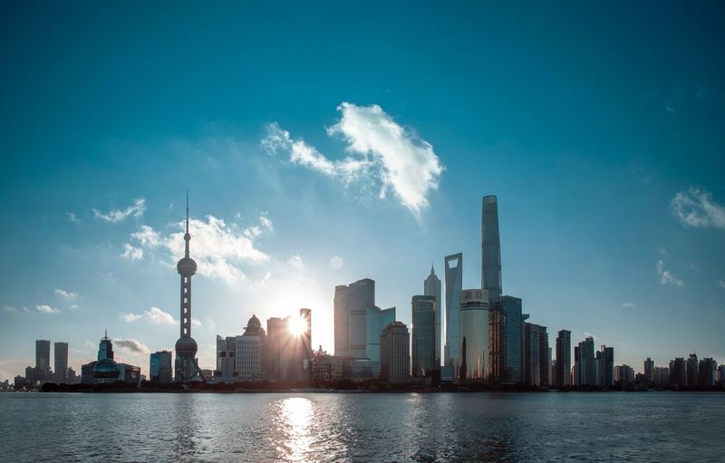 shanghai Building Exterior Built Structure City Architecture Building Sky Office Building Exterior Skyscraper Landscape Urban Skyline Water Tower Cityscape Modern Cloud - Sky Nature Tall - High Residential District Waterfront Downtown District