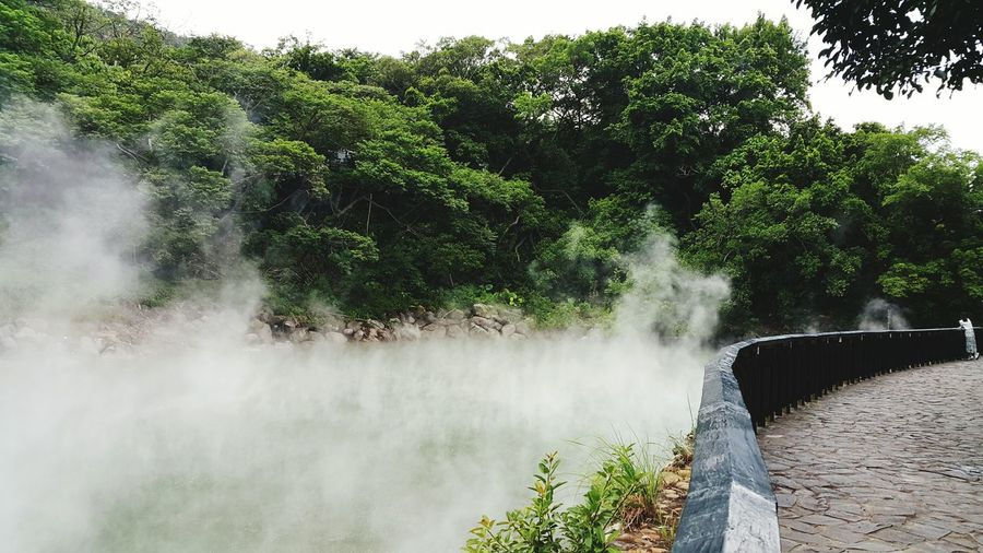 Water Outdoors Nature Beauty In Nature Power In Nature Day Motion Nature Green Color Travel Destinations Outdoors Relaxation Travel Desinations Heat Steam Thermal Valley Hot Spring Beauty In Nature Landscape