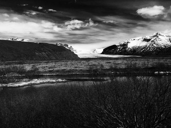 Blackandwhite Iceland Landscape