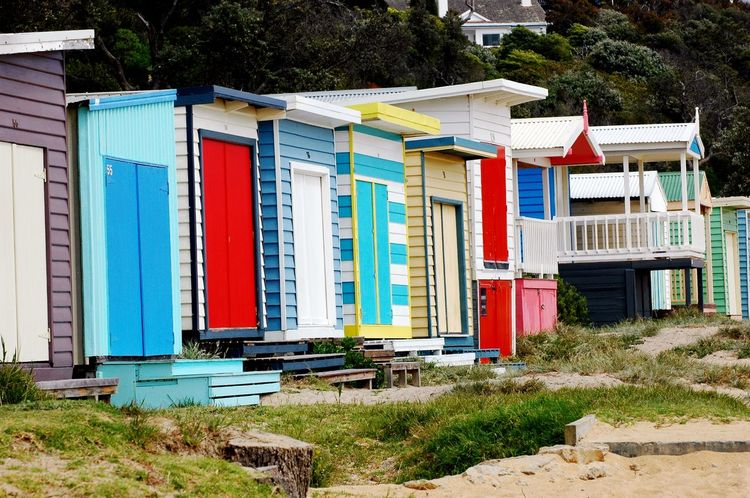 Beautifully Organized Multi Colored Architecture Building Exterior Outdoors Built Structure No People Day Boathouse Bathhouse Beachbox Bathingboxes Rainbow Colors Structure Buildings Mornington Peninsula Victoria Brighton Vacation Vacation Destination In A Row Beach Hut Sand Beach Neighborhood Map The Architect - 2017 EyeEm Awards BYOPaper! Sommergefühle The Week On EyeEm Summer Road Tripping