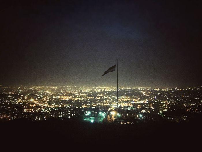 Big Flag Among Dark And Light
