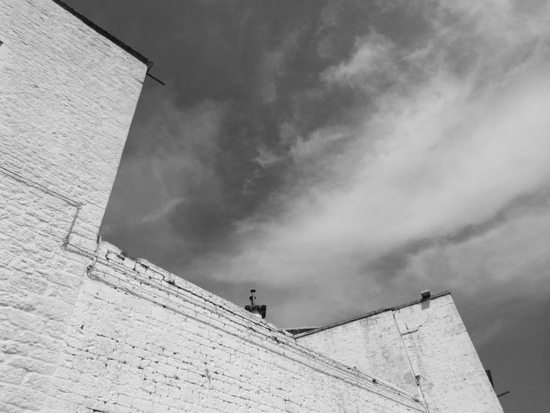 Day Outdoors Architecture Built Structure Sky Building Exterior Architecture Puglia, Italy No People Locorotondo Puglia South Italy Italy🇮🇹 No Filter No Filter, No Edit, Just Photography No Edit/no Filter Low Angle View Blackandwhite Photography Black And White Photography Blackandwhitephotography