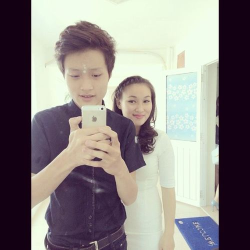 Lâu rồi 2 chị e chụp chung với nhau :) lâu lâu My sister Quy Thuong