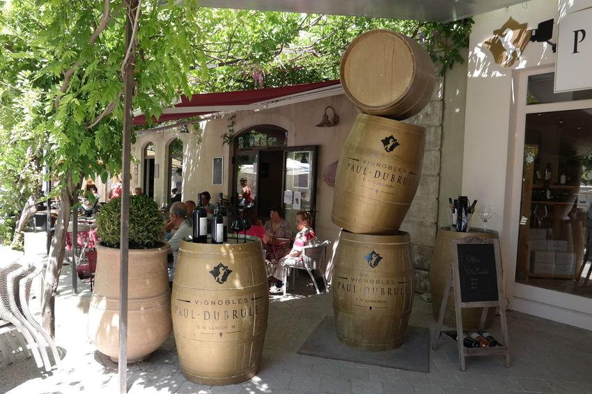 Barrel Beautiful View Lourmarin Provence Restaurant