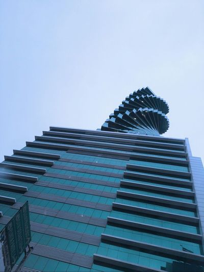 Panama city style Architecture Outdoors Modern Blue Day City Sky