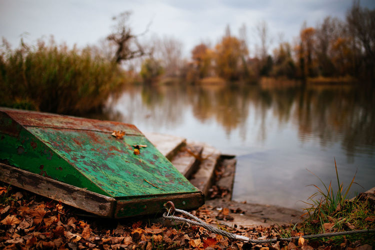 Til next year Autumn Beauty In Nature Boat Close-up Danube Day Fall Lake Nature Nautical Vessel No People Old Outdoors River Riverside Rusty Scenics Sky TeamCanon Tranquility Tree Water