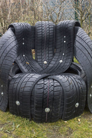 Architectural Feature Art Black Creativity Design Dirty Pattern Relaxing Rubber Tires