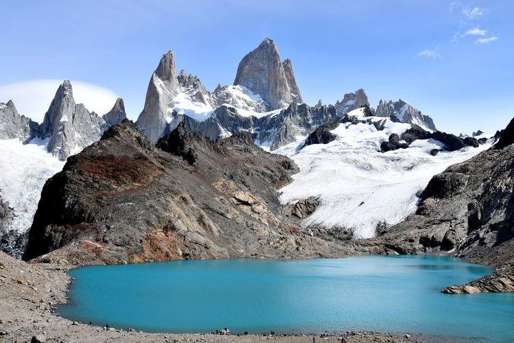Argentina Blue Colorful Day Fitzroy Glacier Hiking Lake Landscape Betterlandscapes Mountain Range Sky Snow Trekking Wilderness