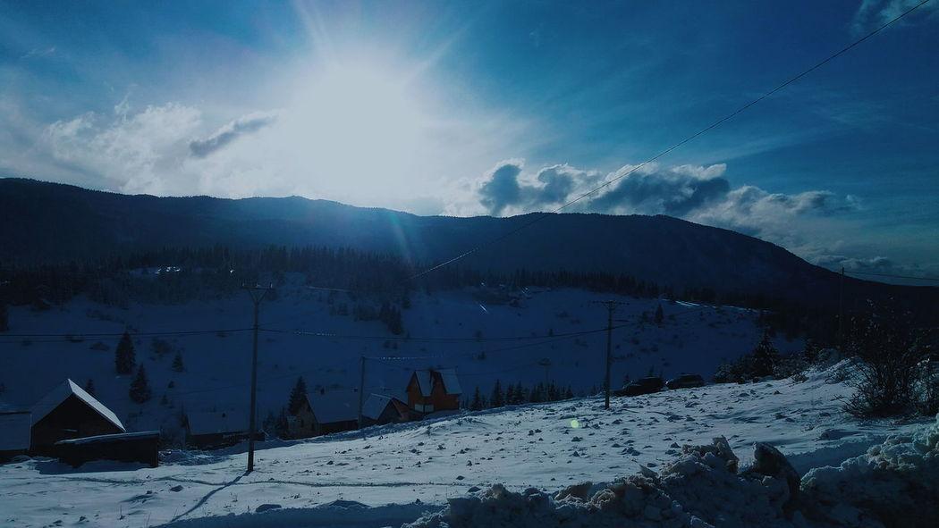 Bosnia And Herzegovina Light Skiing Tree Winter Clouds Forest House Mountain Ski Sky Snow Sun Vlasic White