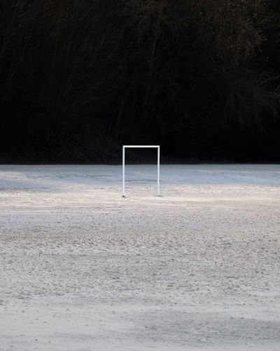 The field of possibilities Minimalism Land Nature Sport Tranquility Tranquil Scene Sand Soccer Absence Goal Post Beach Net - Sports Equipment Scenics - Nature Outdoors Day No People The Creative - 2018 EyeEm Awards