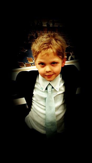 Boy Childhood Portrait Child Looking At Camera Smiling Cute Indoors  One Person Children Only Happiness Representing Blond Hair Boy Anzug Suit Dressup Tie Nice