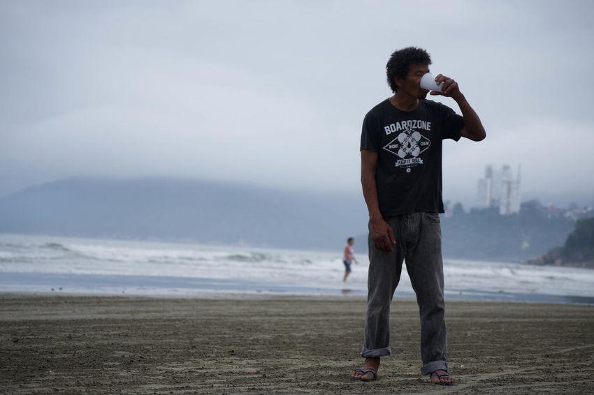 Adult Beach Beggar Brazil Outdoors Poverty Sadness Santos