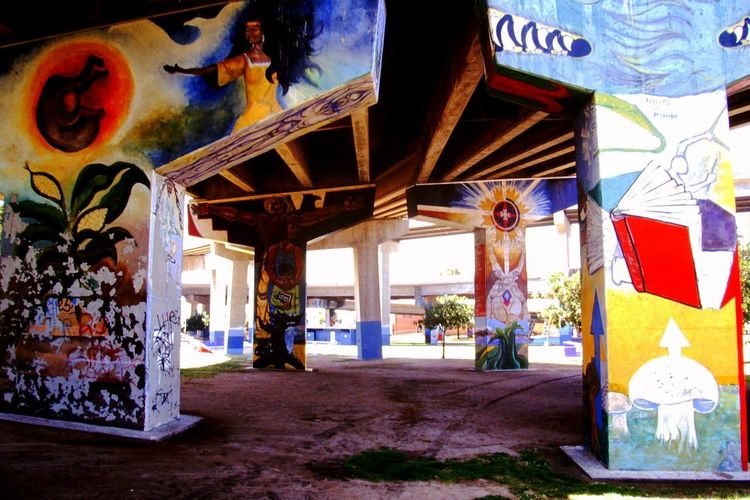 Chicano Art Chicano Park Freeway Art Architecture Built Structure Day Multi Colored No People Outdoors
