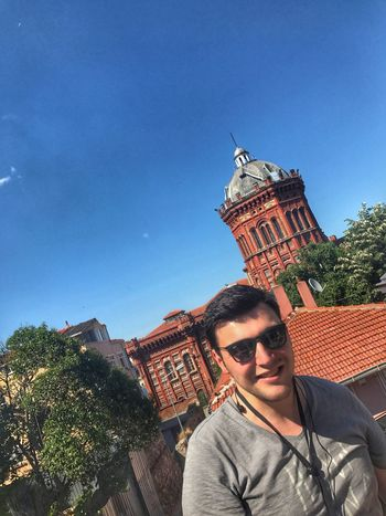 Balat Istanbul Fener Built Structure Building Exterior Sunglasses Front View Sky Portrait Smile (null)Architecture Lifestyles Multi Colored