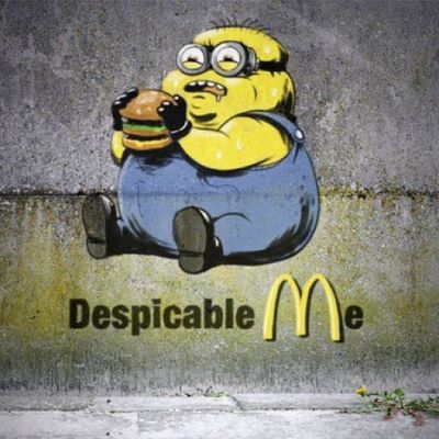 """""""The Gruesome Truth"""" West Harlem  NYC Despicableme Minions McDonalds NotBanksy"""