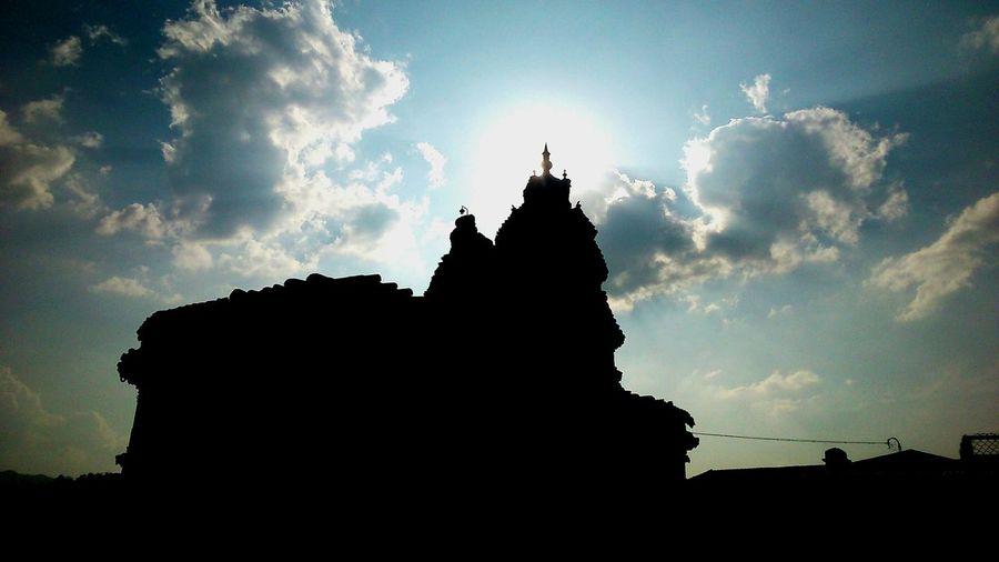 Shishya Sweekaram Sri Vidyashankar How's The Weather Today? Light And Shadow the light falling on the crown of the god vidyashankara temple ( according to hindu mythology Sringeri