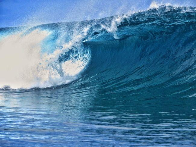 Wave Power In Nature Crash Sea Water Blue Motion Force Sky Go Higher Summer Exploratorium