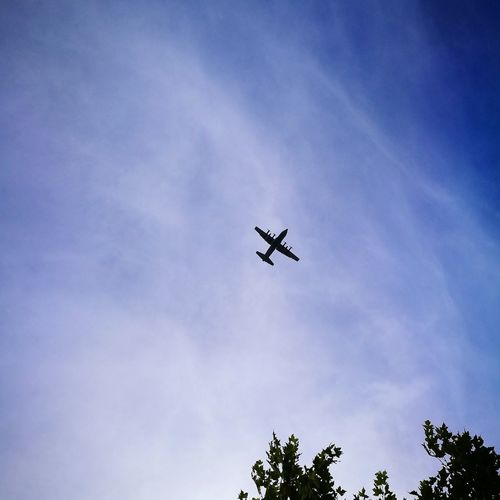 Flying Airplane Airshow Low Angle View Sky Military Airplane Fighter Plane