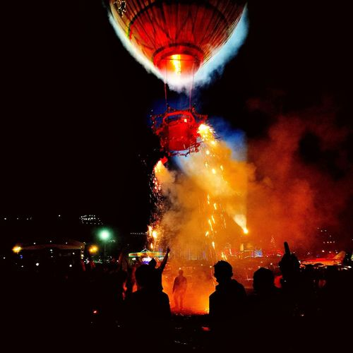 Arts Culture And Entertainment Red Night Firework - Man Made Object Outdoors Multi Colored Myanmar View Myanmar Fire Balloon Myanmarphotos PhonePhotography People Forked Lightning Lightning Night Lights Myanmarburma Burma People