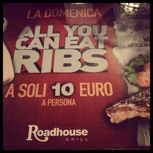 And we're starting #allyoucaneat ribs Allyoucaneat