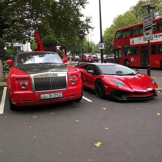 Red Combo! Aventador SV Rollsroyce Phantom Drophead Spotted London Red Combo Luxury Supercar Limited 600 Lp750 Dorchester Bus The Dnll Dimcars 2k Autogespot Amazingcars247 Cargramm