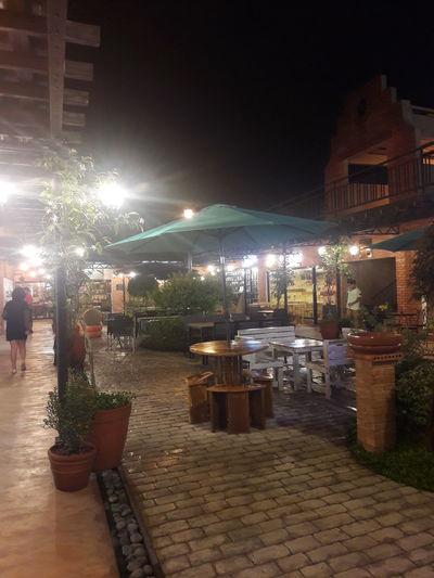 Quarter Lamp Lights On Umbrella Dining FoodPark Evening Lights Lamps LAMPS AND LIGHTS Table And Chairs