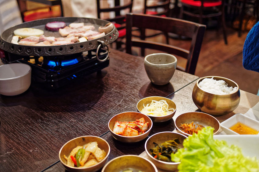 Korean Food Beef Bowl Chopsticks Day Dumpling  Food Food And Drink Freshness Healthy Eating Indoors  Korean Food Meat No People Plate Preparation  Ready-to-eat Table