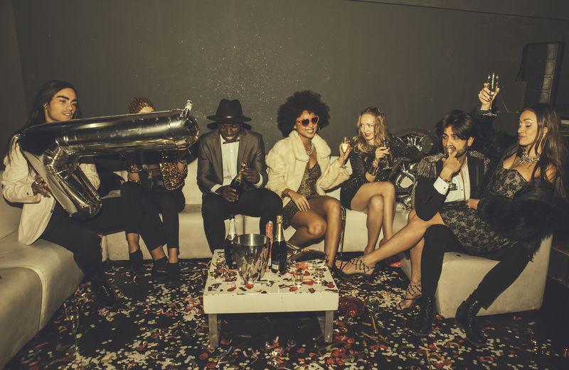 Friends enjoying party at night club