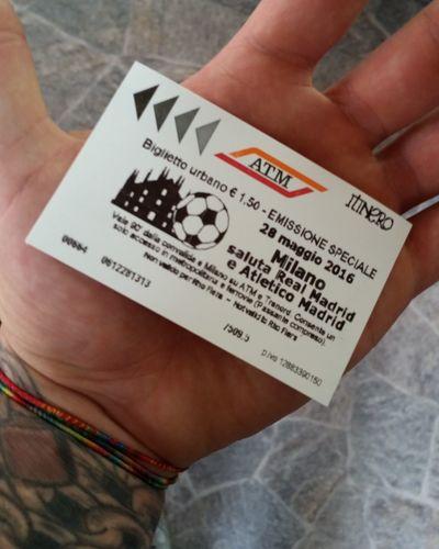 Commemorative Ticket Biglietto Metro Metropolitana Milano Uclfinal Calcio Footbal