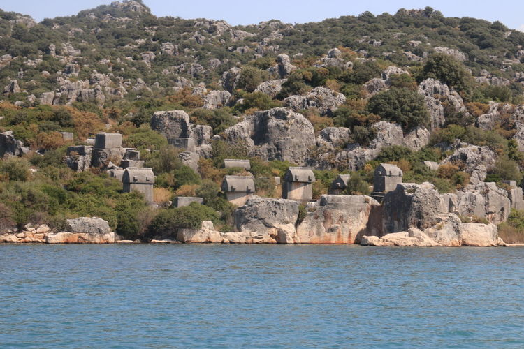 View  of lycian tombs