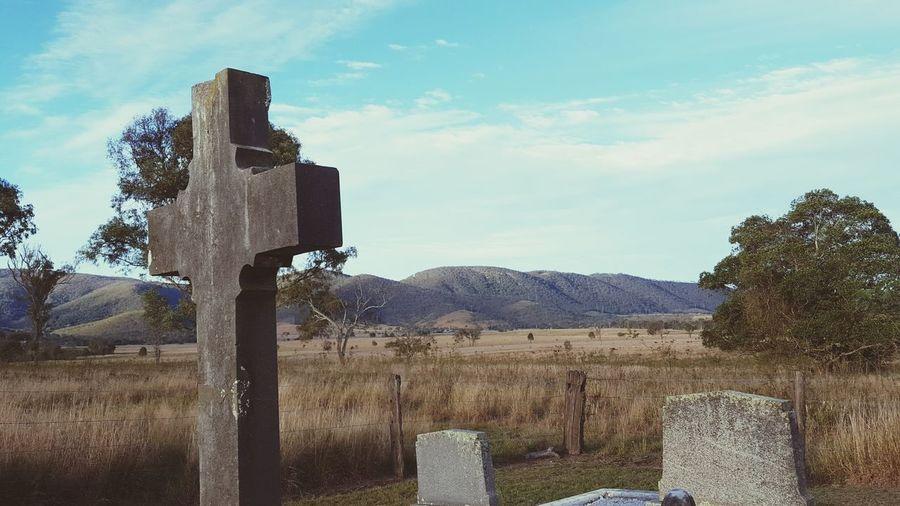 Cemetery Graveyard Gravestone Church Countryside Brisbane River Somerset Region Caboonbah Brisbane Valley Mt. Beppo