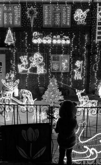 Christmas Lights Monochrome HuaweiP9 Huawei P9 Leica Devizes My Year My View