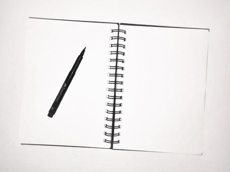 Pen Paper Sketch Sketchbook Creativity Blackandwhite Black & White Blank Pages New Start Ideas Paper View My Student Life