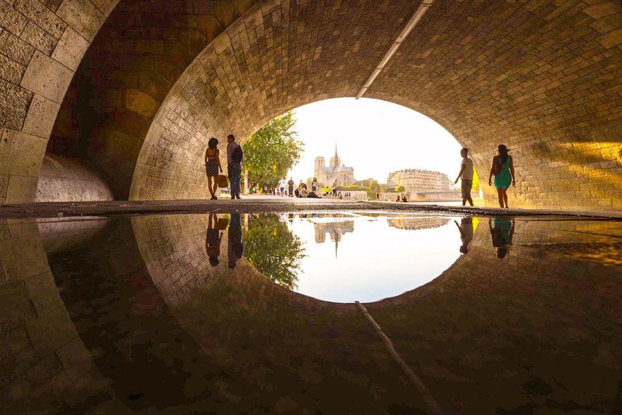 Reflections... Streetphoto_color EyeEm Best Shots Puddleography The Architect - 2015 EyeEm Awards Paris Summertime
