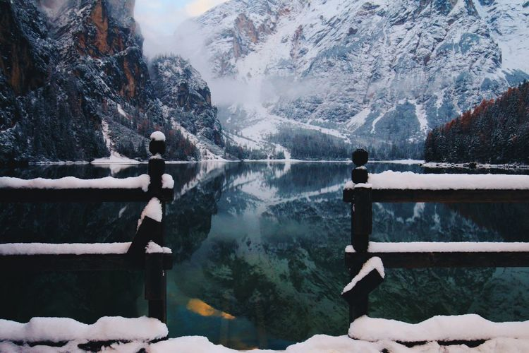 Water Snow Cold Temperature Winter Nature Day Beauty In Nature