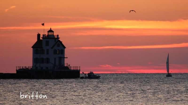 at Dusk at Lorain Lighthouse in Lorain, Ohio. 8/24/24, 8:23 pm Sun_collection Water_collection