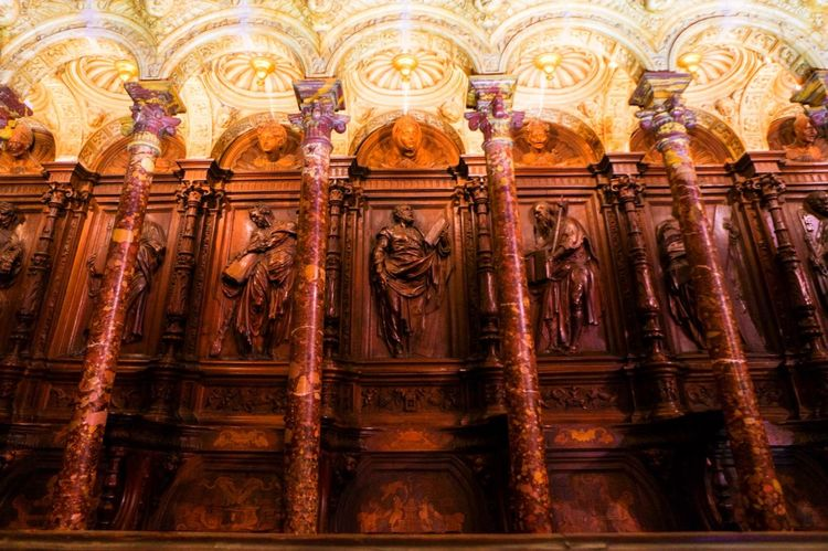Toledo Cathedral Wood SPAIN España Art