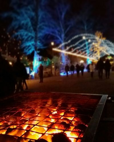 Winter is here and it means cold cold weather. What better to do than warm yourself at a Fire. Liseberg Gothenburg Sweden