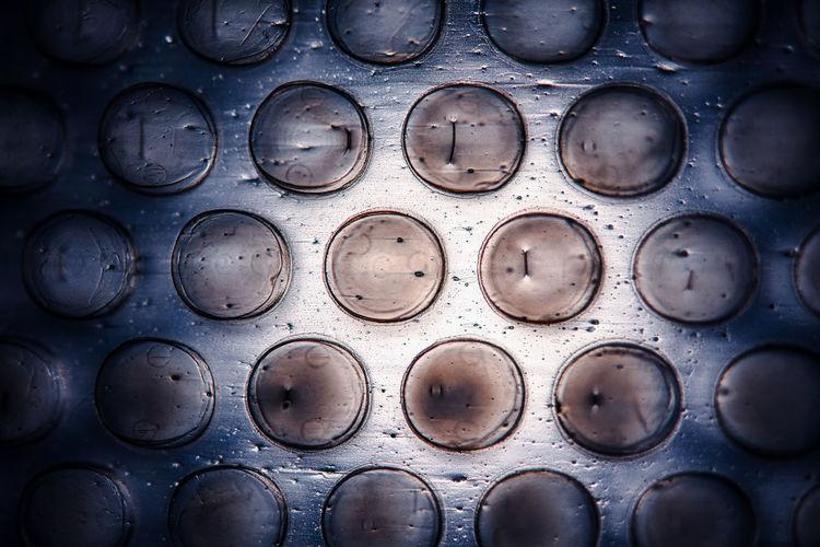 Full frame shot of wet metal