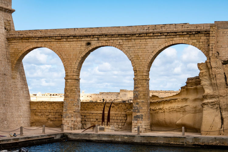 Fortification of the port of valletta in malta