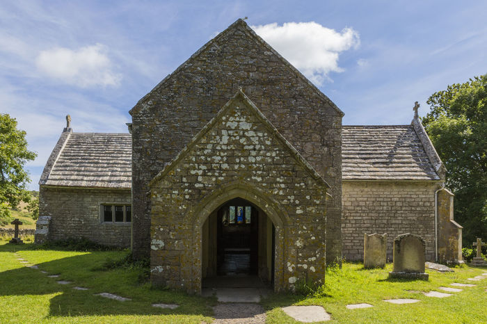 Tyneham St Mary's Church, Isle of Purbeck, Dorset, England, United Kingdom Architecture Building Exterior Built Structure Cloud - Sky Day Façade Grass History House No People Outdoors Sky Tree