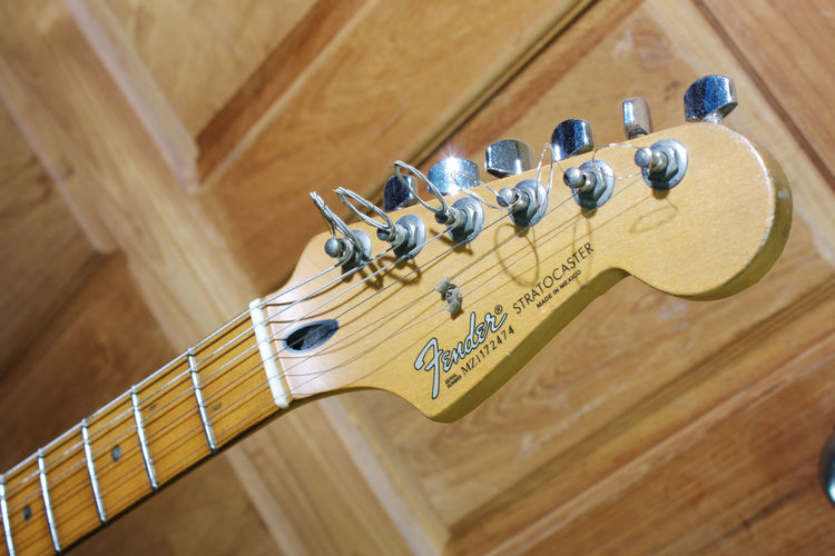 fender standard stratocaster Bed Room Door Editorial  Electric Guitar Fender Fender Mexico Fender Stratocaster Guitar Maple Neck Music Musician Room Strat Stratocaster White Neck
