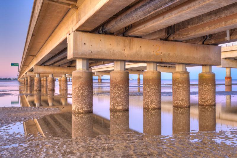 Bridge on the beach