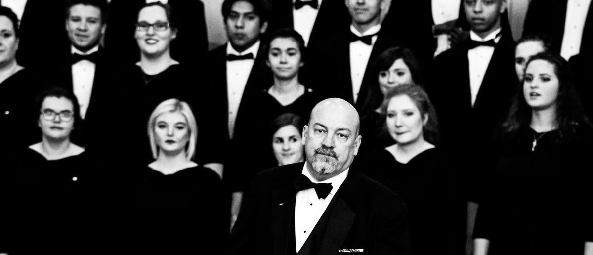 Maestro bowing to his audience Adult Choir  Day Front View Husband Indoors  Men Multiple Image Musicians One Person People Real People Women Young Adult Young Women Second Acts Black And White Friday
