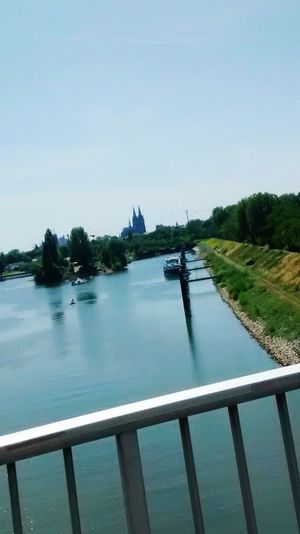 Köln am Rhein Outdoors No People Day Blue Reflection Clear Sky Water Sky First Eyeem Photo