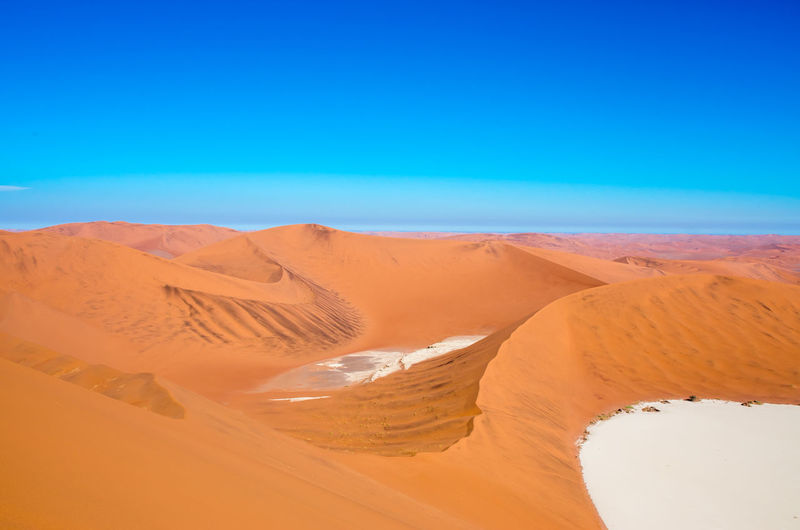 Namib Desert Namib Desert Namibia Namibia Landscape NamibiaPhotography Arid Climate Atmospheric Beauty In Nature Blue Clear Sky Climate Day Desert Environment Land Landscape Nature No People Outdoors Remote Sand Sand Dune Scenics - Nature Sky Tranquil Scene Tranquility
