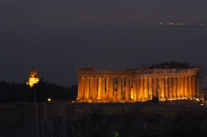 Night Illuminated History Architecture Travel Destinations Outdoors Built Structure Sky No People Building Exterior Architectural Column City Politics And Government Parthenon Details Parthenon Parthenon Acropolis Greece Acropolis, Athens Acropolis Acropolis By Night