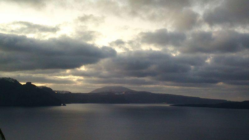 || Nature Theories || A Santorini Sunrise , Greece. TheFoneFanatic Nokia  Nokia808 Vacations Mobilephotography PhonePhotography Nature Mountain Reflection Cloud - Sky Landscape Dramatic Sky Cloudscape