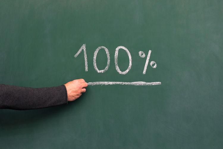 Percent 100 Blackboard School Positive Art Blackboard  Blackboard  Chalk Chalkboard Creative Drawing Expectation Finger Green Color Hand Human Hand Onehundred People Text Underline Underlined Underscore Writing