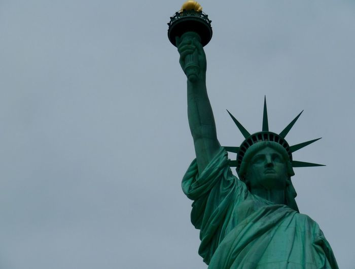 Freedom Lady Liberty No People Statue Of Liberty Statue Of Liberty And Sky Statue Of Liberty New York Torchlight Image Off Center Symbol Of Freedom